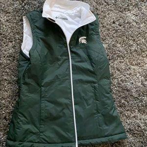 MSU reversible light puffer vest